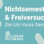 Nichtsemester & Freiversuch – Die Uni muss handeln!
